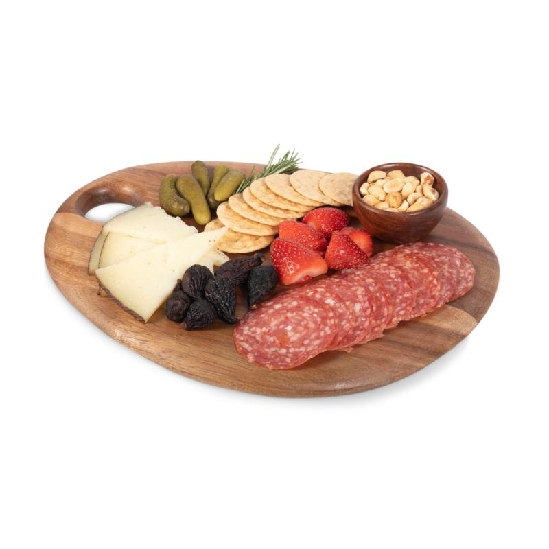"Toscana by Picnic Time 12"" x 9"" Pebble Serving Board (Natural Acacia)"