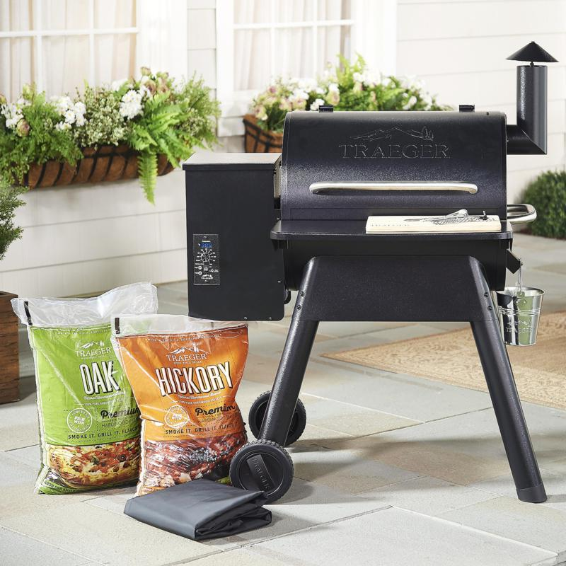 Traeger Prairie 572 sq. in. Wood-Fired Grill & Smoker with Accessories