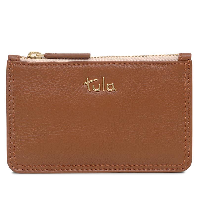 Tula England Originals Leather Small Zip-Top Coin Purse