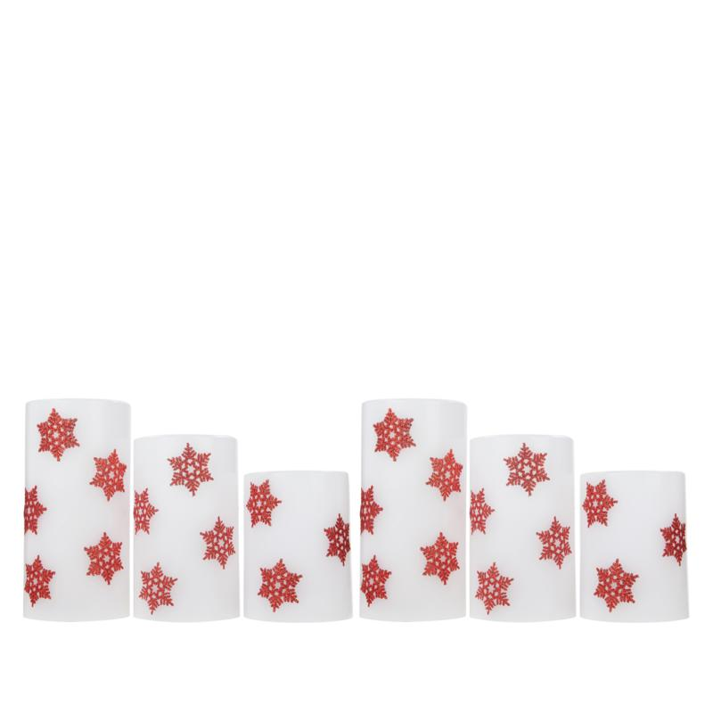 Unmatched Snowflake Candle - Set of 6