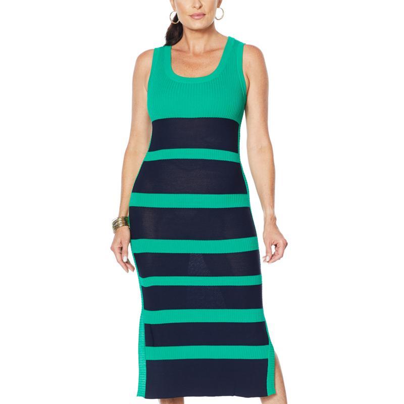 Vanessa Williams Striped Knit Dress