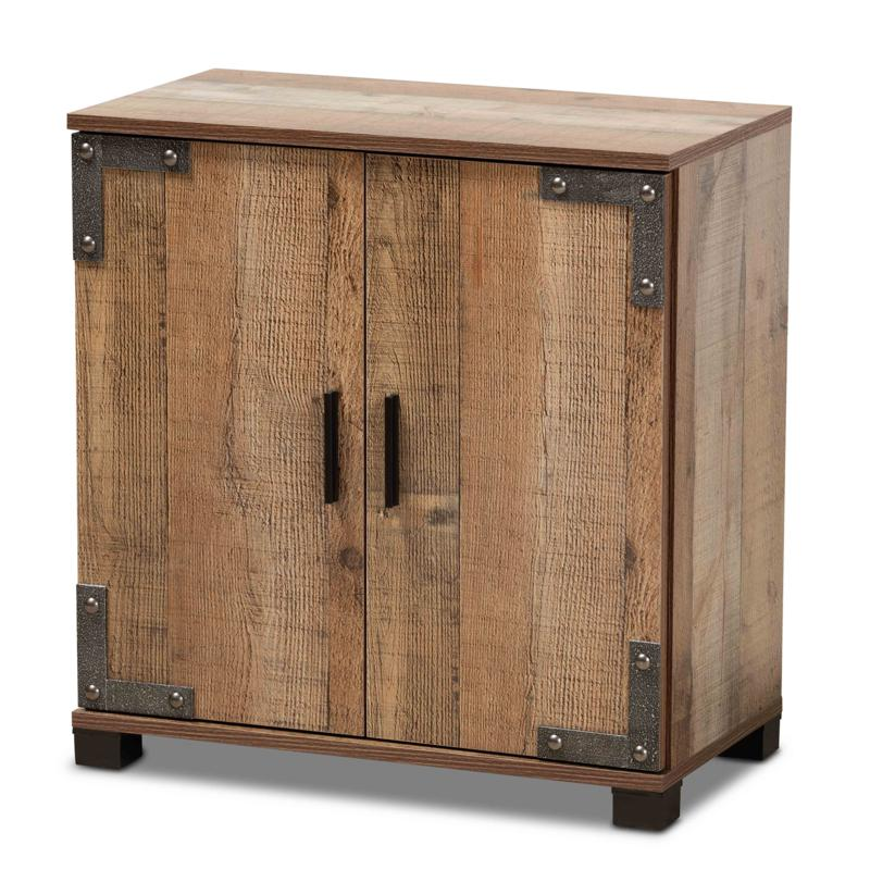 Wholesale Interiors Cyrille Wood 2-Door Shoe Cabinet