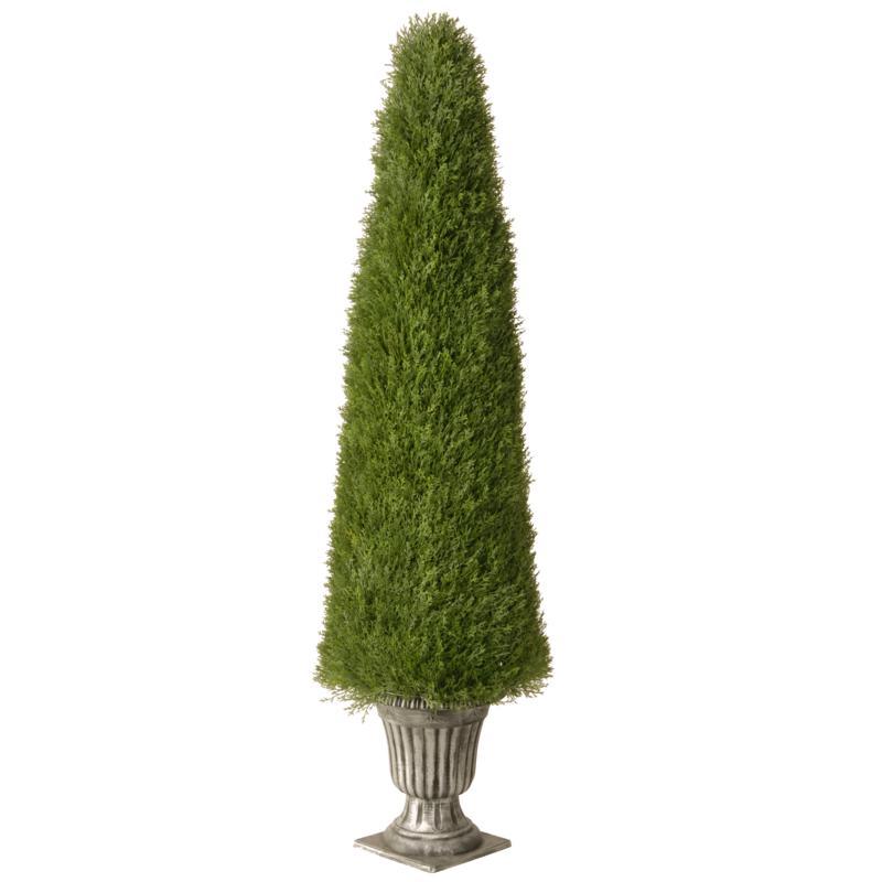 Winter Lane 6' Artificial Topiary Juniper Tree