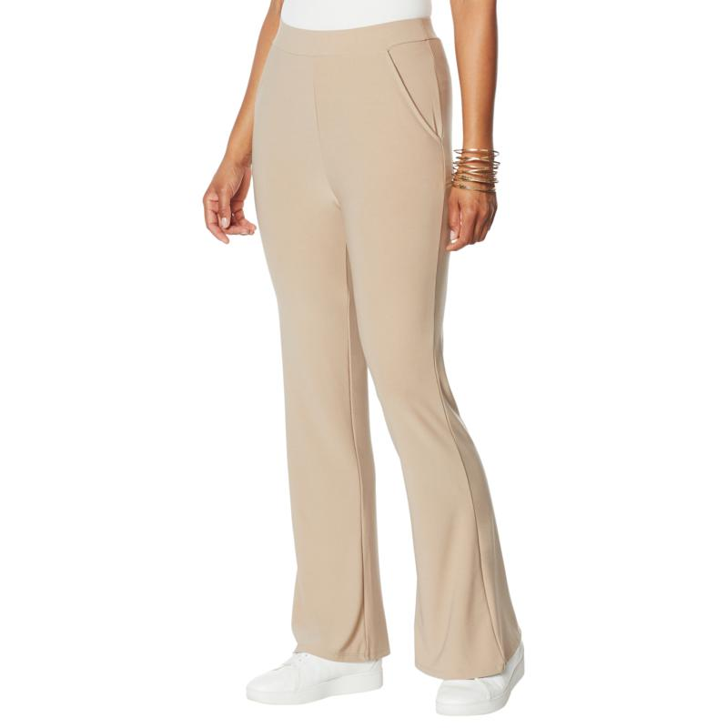 WynneLayers Luxe Crepe Wide-Leg Pant with Pockets