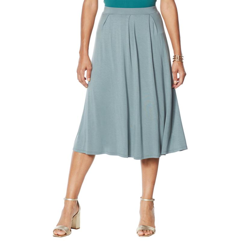 WynneLayers Pleated Knit Midi Skirt