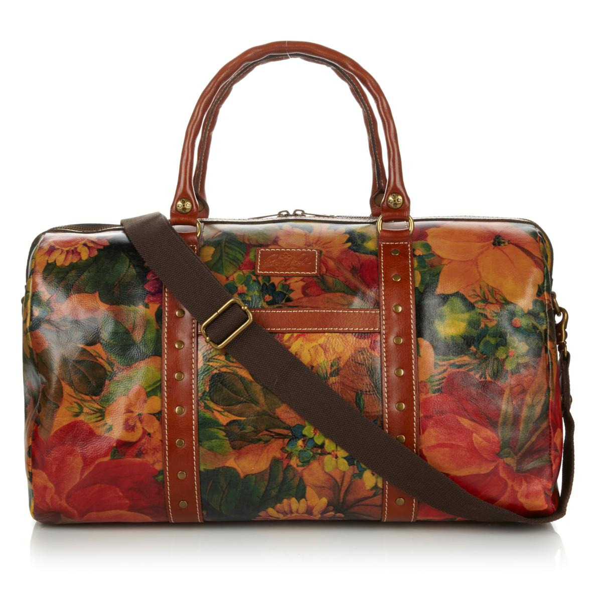 5dcce50ffd55 Speaking of Patricia Nash – I saw this lush leather weekender duffel bag