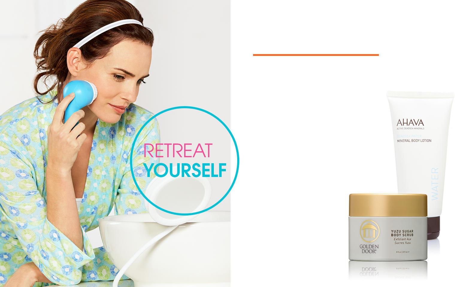 Retreat Yourself. Spa at home with botanical skin care & artisanal foods.