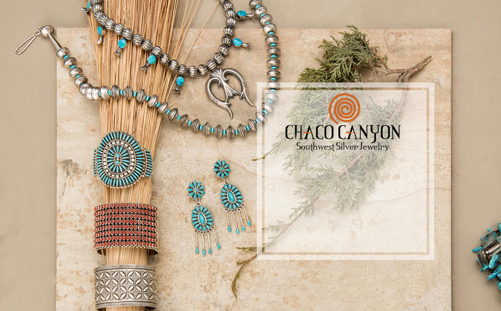 Chaco Canyon. Southwest Silver Jewelry