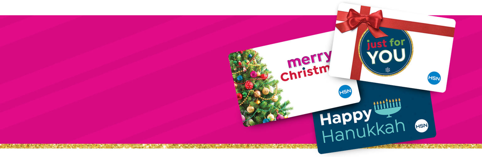 Pink background with gift cards